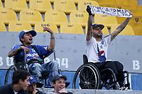 BOGOTÁ-COLOMBIA, 02-02-2020: Hinchas de Millonarios durante partido entre Millonarios y La Equidad de la fecha 3 por la Liga BetPlay DIMAYOR 2020 jugado en el estadio Nemesio Camacho El Campín de la ciudad de Bogotá. / Fans of Millonarios during a match between Millonarios and La Equidad of the 3rd date for the BetPlay DIMAYOR Leguaje I 2020 played at the Nemesio Camacho El Campin Stadium in Bogota city, Photo: VizzorImage / Daniel Garzón / Cont.