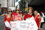 """Days of Our Lives Louise Sorel """"Vivian Alamain"""" -  - writer Pat Sellers Ross - Gianna Paterson as they support Bring Back Our Girls by attending the vigil - 500 Days on August 27, 2015 at Church Center for the United Nations followed by a vigil at the Nigeria House, New York City, New York"""