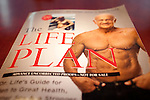 An advanced copy of the new book by Dr. Jeffry Life, of DrLife.com and spokesperson for Cenegenics,  sits on his desk at his Las Vegas, Nevada office, seen April 4, 2011. Dr. Life is 72 and has been a patient of Cenegenics since 2003....