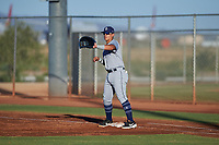 AZL Padres 1 first baseman Brandon Valenzuela (7) during an Arizona League game against the AZL Indians Red on June 23, 2019 at the Cleveland Indians Training Complex in Goodyear, Arizona. AZL Indians Red defeated the AZL Padres 1 3-2. (Zachary Lucy/Four Seam Images)