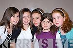 Megan O'Callaghan, Rachel McGowan, Gemma Payne, Amy O'Callaghan and Ellen McGillicuddy enjoying the Holy Cross fashion show in the Malton Hotel, Killarney on Thursday      Copyright Kerry's Eye 2008