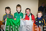 Brian Dennehy, Donnacha McSweeney, Tadhg Broderick and Cillian Dennehy at Kerry Airport on Monday night