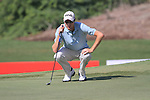 Rhys Davies lines up his putt on the 5th green during Day 1 of the Dubai World Championship, Earth Course, Jumeirah Golf Estates, Dubai, 25th November 2010..(Picture Eoin Clarke/www.golffile.ie)