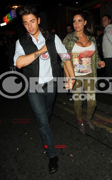 Katie Price pictured leaving Madam JoJo's club with friends. London, UK. 08/11/2012.<br /> (Photo: BlueStar/OIC cap1002/NortePhoto)