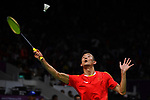 Chen Long (CHN), AUGUST 22, 2018 - Badminton : Men's Team Final match between China - Indonesia at Gelora Bung Karno Istora during the 2018 Jakarta Palembang Asian Games in Jakarta, Indonesia. <br /> (Photo by MATSUO.K/AFLO SPORT)