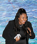 Color of Beauty Awards - Jordan Tesfay (Covergirl Model) presented the Model of the Year award on February 28, 2015 with red carpet, awards and cocktail reception at Ana Tzarev Gallery, New York City, New York.  (Photo by Sue Coflin/Max Photos)