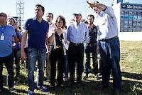 SÃO PAULO,SP,06.07.2014 - GERALDO ALCKMIN VISTORIA PQ SABESP - O governador de São Paulo Geraldo Alckmin esteve na manhã de hoje vistroiando as obras do Pq Sabesp na Mooca zona leste de São Paulo.(Foto Ale Vianna/Brazil Photo Press).