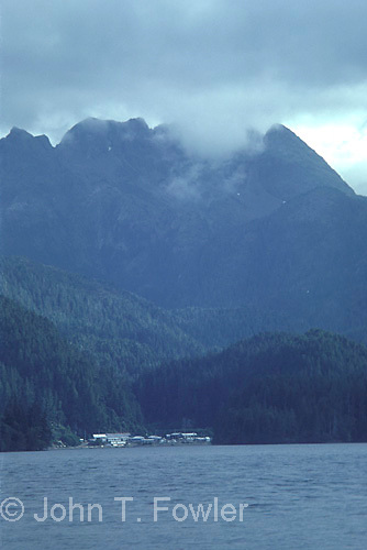 Secluded village in Queen Charlotte Islands<br />