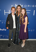 LOS ANGELES, CA - SEPTEMBER 12: Alex Rubin, Natascha McElhone, Amber Patino, at the premiere of Hulu's original drama series, The First at the California Science Center in Los Angeles, California on September 12, 2018. <br /> CAP/MPI/FS<br /> &copy;FS/MPI/Capital Pictures