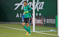 Portland, OR - Saturday May 27, 2017: Adrianna Franch during a regular season National Women's Soccer League (NWSL) match between the Portland Thorns FC and the Boston Breakers at Providence Park.