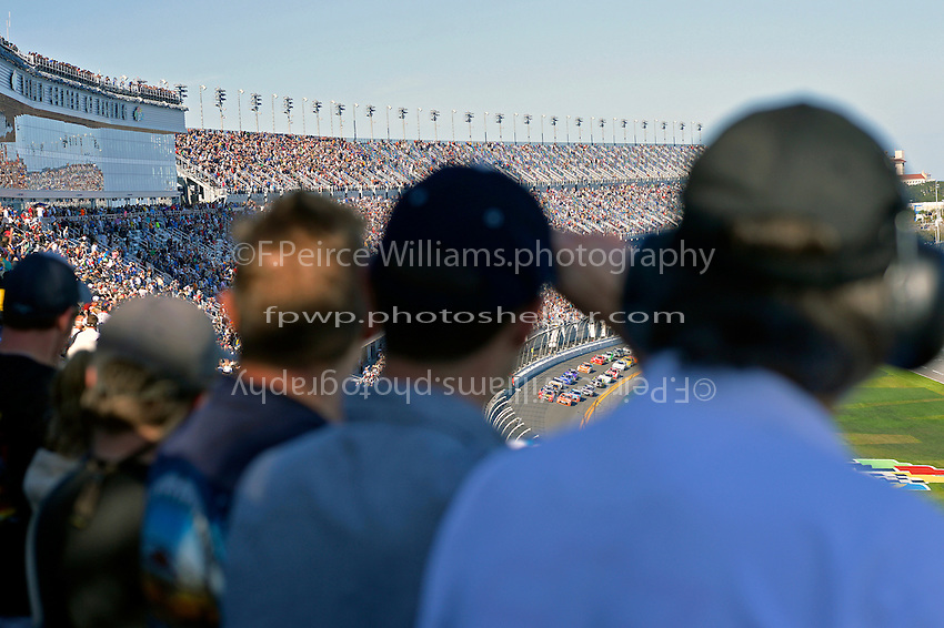19-20 February, 2016, Daytona Beach, Florida USA<br /> Fans stand for the start in Daytona's new stadium.<br /> &copy;2016, F. Peirce Williams