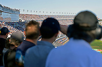 19-20 February, 2016, Daytona Beach, Florida USA<br /> Fans stand for the start in Daytona's new stadium.<br /> ©2016, F. Peirce Williams