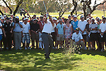 DORAL, FL. - Phil Mickelson shoots from the gallery during final round play at the 2009 World Golf Championships CA Championship at Doral Golf Resort and Spa in Doral, FL. on March 15, 2009