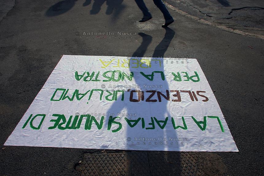 Palermo, 16 Dicembre 2005. L'arrivo della carovana antimafia a Palermo
