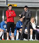 Dumbarton's Jack Ross and Ian Murray