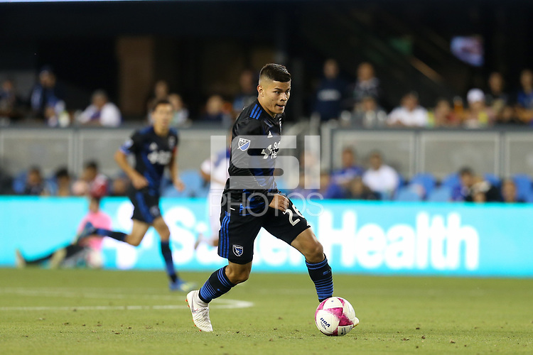 San Jose, CA - Saturday October 13, 2018: Eric Calvillo during a friendly match between the San Jose Earthquakes and Cruz Azul at Avaya Stadium.