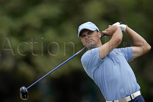 23 July 2006: English golfer Andrew Marshall (ENG) watches his drive from the 5th Tee during the final round The Open Championship played at Royal Liverpool Golf Club, Hoylake, England. Photo: Glyn Kirk/Actionplus....060723 man men male golf