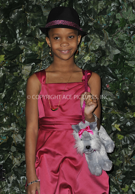 WWW.ACEPIXS.COM....February 22 2013, LA....Quvenzhane Wallis arrives at the QVC 'Red Carpet Style' party at Four Seasons Hotel Los Angeles at Beverly Hills on February 22, 2013 in Beverly Hills, California.....By Line: Peter West/ACE Pictures......ACE Pictures, Inc...tel: 646 769 0430..Email: info@acepixs.com..www.acepixs.com