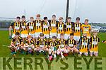 The Abbeydorney U16 team against Ballyheigue in the County U16 Hurling Championship in Kilmoyley on Friday evening.
