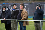 Civil Service Strollers 2 Leith Athletic 3, 12/03/2016. Christie Gillies Park, East of Scotland Cup. 'Groundhoppers' watching the action at Christie Gilles Park, as Civil Service Strollers take on Leith Athletic in an East of Scotland League match, which the visitors won 3-2. The match was one of six attended by members of GroundhopUK over the weekend to accommodate groundhoppers, fans who attempt to visit as many football venues as possible. Around 100 fans in two coaches from England participated in the 2016 Lowland League Groundhop and they were joined by other individuals from across the UK which helped boost crowds at the six featured matches. Photo by Colin McPherson.