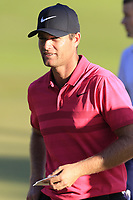 Lucas Bjerregaard (DEN) finishes on the 18th green during Thursday's Round 1 of the 2018 Turkish Airlines Open hosted by Regnum Carya Golf &amp; Spa Resort, Antalya, Turkey. 1st November 2018.<br /> Picture: Eoin Clarke | Golffile<br /> <br /> <br /> All photos usage must carry mandatory copyright credit (&copy; Golffile | Eoin Clarke)