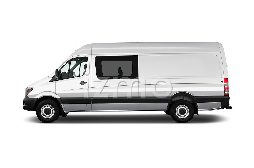 Car Driver side profile view of a 2017 Mercedes Benz Sprinter-Crew-Van 2500-170-WB-High-Roof 4 Door Combi Side View