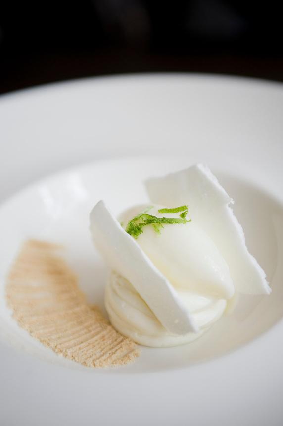 Pay de Limon. Pujol, Chef Enrique Olvera's restaurant. Aromas y Sabores with Chef Patricia Quintana, Mexico City, Mexico