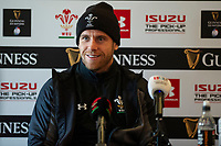 Gareth Davies of Wales during the Wales Press Conference at The Vale Resort in Cardiff, Wales, UK.Thursday 28 February 2019