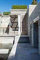 Arabic motifs are incorporated into the predominately classic contemporary design scheme, such the ornate balustrade which leads to the main upper floor terraces.