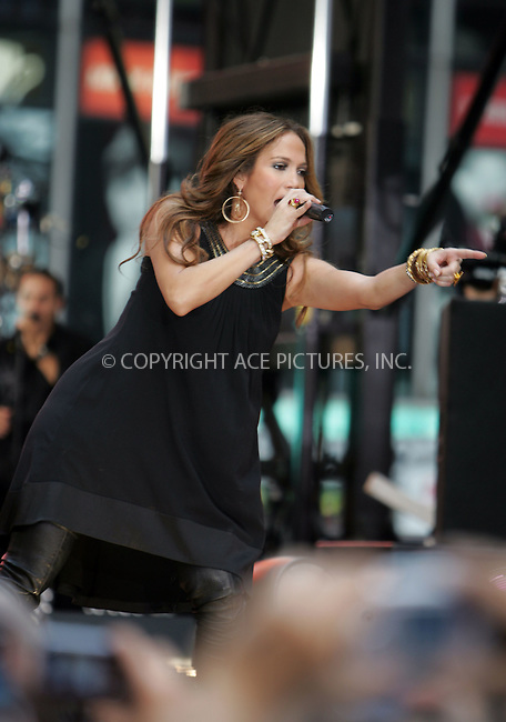 WWW.ACEPIXS.COM . . . . . ....October 9 2007, New York City....Singer Jennifer Lopez performed live in Times Square in midtown Manhattan for the TV show 'Good Morning America'.....Please byline: DAVID MURPHY - ACEPIXS.COM.. . . . . . ..Ace Pictures, Inc:  ..(646) 769 0430..e-mail: info@acepixs.com..web: http://www.acepixs.com