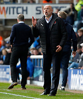 Fleetwood Town manager Uwe Rosler shouts instructions to his team from the dug-out<br /> <br /> Photographer David Shipman/CameraSport<br /> <br /> The EFL Sky Bet League One - Peterborough United v Fleetwood Town - Friday 14th April 2016 - ABAX Stadium  - Peterborough<br /> <br /> World Copyright &copy; 2017 CameraSport. All rights reserved. 43 Linden Ave. Countesthorpe. Leicester. England. LE8 5PG - Tel: +44 (0) 116 277 4147 - admin@camerasport.com - www.camerasport.com