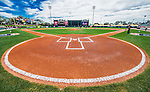 11 March 2016: With fresh chalk at home plate, the batter's box is ready for a Spring Training pre-season game between the Philadelphia Phillies and the Atlanta Braves at Champion Stadium in the ESPN Wide World of Sports Complex in Kissimmee, Florida. The Phillies defeated the Braves 9-2 in Grapefruit League play. Mandatory Credit: Ed Wolfstein Photo *** RAW (NEF) Image File Available ***