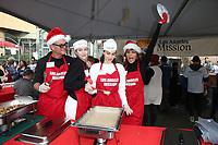 21 December 2018 - Los Angeles, California - Harry Hamlin, Delilah Hamlin, Amelia Hamlin and Lisa Rinna. Los Angeles Mission Christmas Meal for the Homeless held at Los Angeles Mission. Photo Credit: F. Sadou/AdMedia