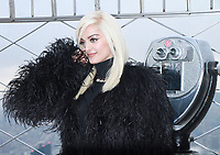 JAN 16 Bebe Rexha Visits The Empire State Building