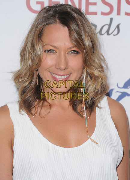 Colbie Caillat.Davey Detail. 26th Genesis Awards held at The Beverly Hilton Hotel, Beverly Hills, California, USA..March 24th, 2012.headshot portrait earring white sleeveless  .CAP/RKE/DVS.©DVS/RockinExposures/Capital Pictures.