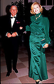 Frank and Barbara Sinatra arrive at the White House in Washington, D.C. for a State Dinner in honor of Italian President Andreotti on March 7, 1990.<br /> Credit: Ron Sachs / CNP