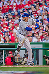 6 April 2015: New York Mets infielder Lucas Duda at bat during the Season Opening Game against the Washington Nationals at Nationals Park in Washington, DC. The Mets rallied to defeat the Nationals 3-1 in their first meeting of the 2015 MLB season. Mandatory Credit: Ed Wolfstein Photo *** RAW (NEF) Image File Available ***