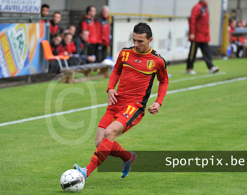 Scotland U19 - Belgium U19 : Jordy Croux.foto DAVID CATRY / Nikonpro.be