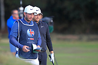 Tom Lewis (ENG) on the 2nd fairway during Round 3 of the Sky Sports British Masters at Walton Heath Golf Club in Tadworth, Surrey, England on Saturday 13th Oct 2018.<br /> Picture:  Thos Caffrey | Golffile