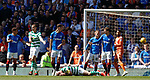 12.05.2019 Rangers v Celtic: Scott Brown down holding his face