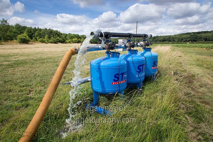 Drip irrigation sand filters backflushing - August; Lincolnshire