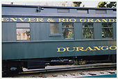 A partial side view of D&amp;RGW parlor car &quot;Durango&quot; at Knott's Berry Farm.<br /> D&amp;RGW  Buena Park, CA  Taken by Dorman, Richard L. - 8/13/2003