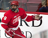 Yanni Kaldis (Cornell - 8) - The Harvard University Crimson defeated the visiting Cornell University Big Red on Saturday, November 5, 2016, at the Bright-Landry Hockey Center in Boston, Massachusetts.