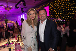 Di Dougherty and Chris Hollins at the gala dinner.<br /> The Celebrity Cup 2015<br /> Celtic Manor Resort<br /> <br /> 04.07.15<br /> &copy;Steve Pope - SPORTINGWALES