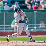 4 September 2017: Tri-City ValleyCats infielder Adrian Tovalin at bat during the first game of a double-header against the Vermont Lake Monsters at Centennial Field in Burlington, Vermont. The ValleyCats split their games, winning 6-5 in the first, then dropping the second 7-4 to the Lake Monsters in NY Penn League action. Mandatory Credit: Ed Wolfstein Photo *** RAW (NEF) Image File Available ***