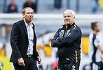 Solna 2015-07-26 Fotboll Allsvenskan AIK - IF Elfsborg :  <br /> Elfsborgs tr&auml;nare manager Magnus Haglund och assisterande tr&auml;nare Reine Almqvist inf&ouml;r matchen mellan AIK och IF Elfsborg <br /> (Foto: Kenta J&ouml;nsson) Nyckelord:  AIK Gnaget Friends Arena Allsvenskan Elfsborg IFE tr&auml;nare manager coach portr&auml;tt portrait