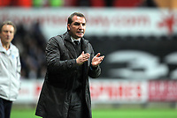 Pictured: Brendan Rodgers manager for Swansea. Tuesday 27 December 2011<br /> Re: Premier League football Swansea City FC v Queens Park Rangers at the Liberty Stadium, south Wales.