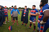 Saua Leaupepetele offer second half tactics to the Ardmore Marist forwards. Counties Manukau Premier Club Rugby game between Patumahoe and Ardmore Marist, played at Patumahoe on Saturday July 9th 2016.<br /> Ardmore Marist won the game 33 - 24 after leading 18 - 12 at halftime. Photo by Richard Spranger.