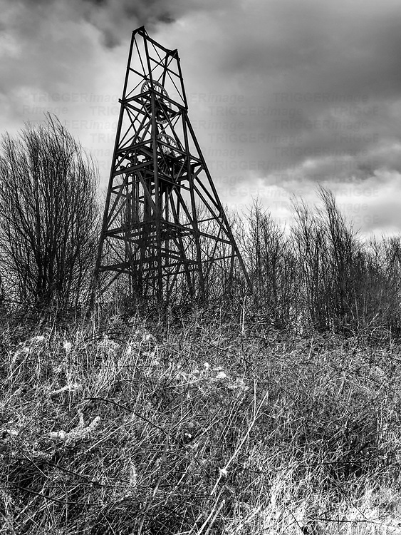 Frances Colliery Winding Gear near Dysart Fife Scotland