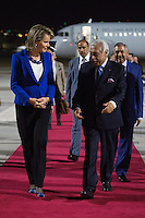 Queen Mathilde of Belgium arrives in Amman - Jordan